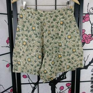 🌼 Vtg 90s GAP Linen High Waist Shorts Floral
